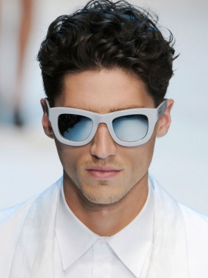 mens curly hairstyle 2014