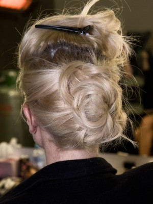 messy up-do style