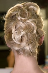 messy up-do hairstyle 2012