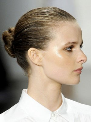 slicked bun hairstyles 2014