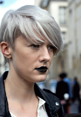 icy blonde with silver shade
