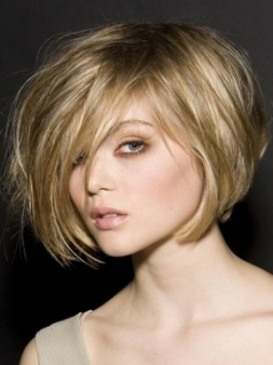side swept bob hairstyle 2014