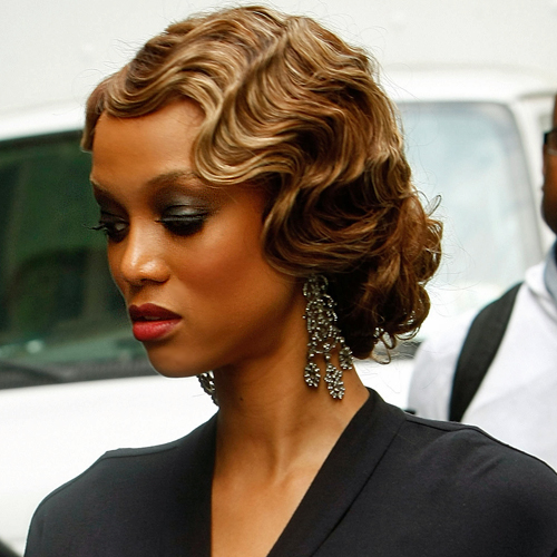 ... retro hairstyle is well defined and perfect waves finger wave retro