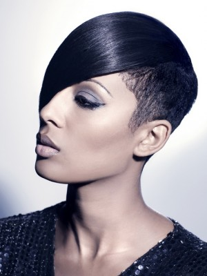 hot short hairstyle for black women