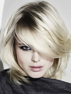 blonde hair color with dark roots