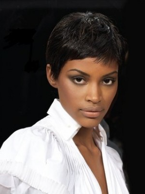 short pixie hair for black women