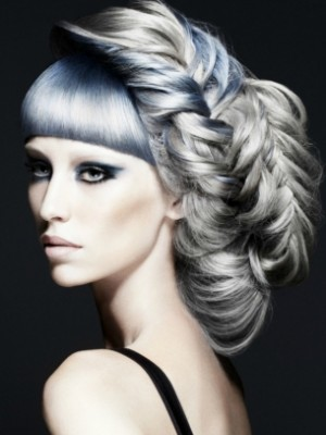 silver hair with blue undertone