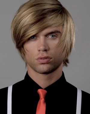 long bangs hairstyle for men