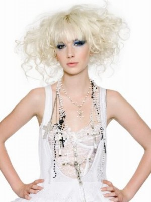 platinum blonde hairstyle