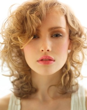 lovely curly hairstyle