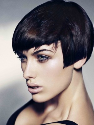 2014 short hairstyle with bangs