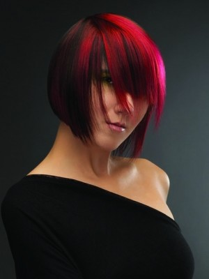 Red and black hair color