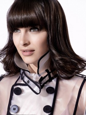 Shoulder length hairstyles with bangs 2013