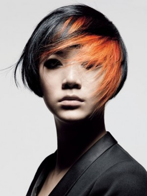 black and orange hair color 2013