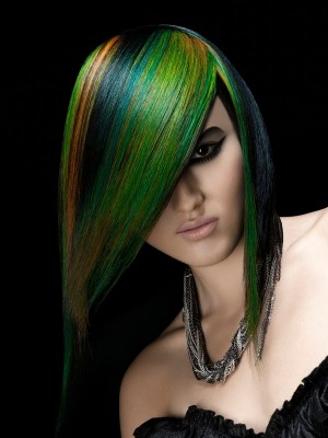 green hair color 2013