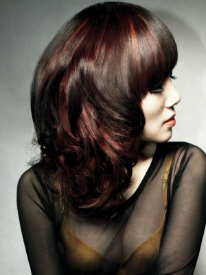 red & black hair color 2013