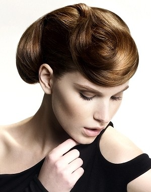 twisted updo hairstyle 2014