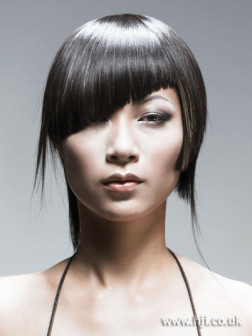 bold asymmetric hairstyle