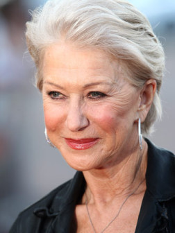hellen mirren gray hair