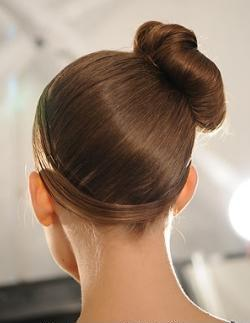 simple bun up-do