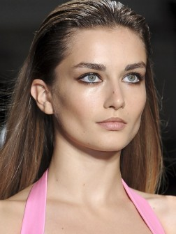 runway slicked hairstyle