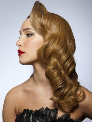 vintage hairstyle for wedding