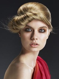 creative twisted hairstyle