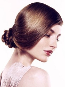 simple up-do hairstyle