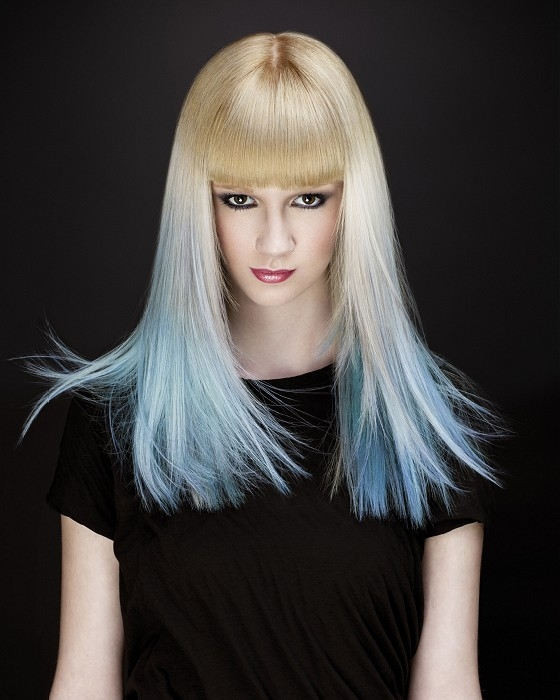 blonde blue ombre