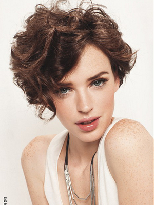 Curly Short Hairstyles Image Result For Pixie Cut Swept Back Bangs  Hair  Pinterest