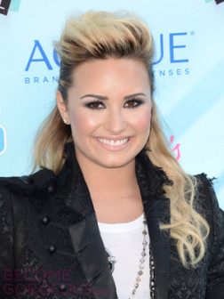 demi-lovato-half-updo-with-bump