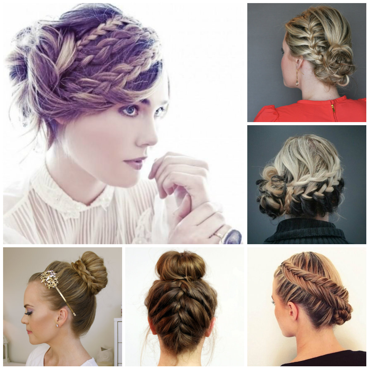braided updo hairstyles 2016