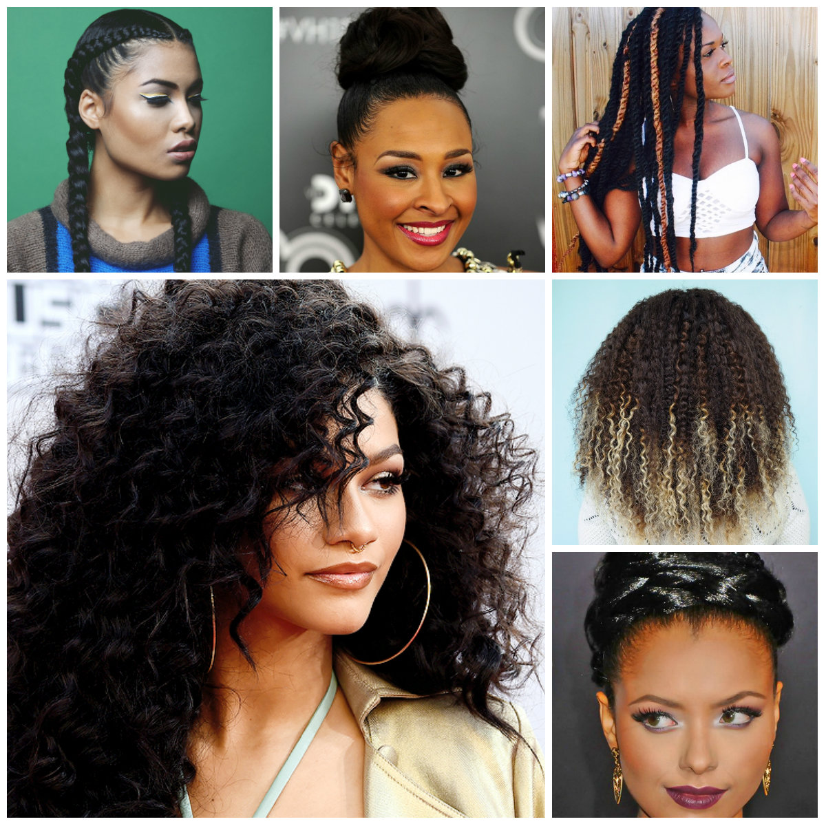 Hairstyles 2016 dark hair -  Natural Hairstyles 2016