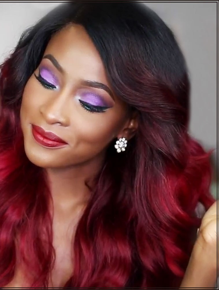 Fantastic Black And Red Hair Color Ideas Short Hair Fashions Hairstyle Inspiration Daily Dogsangcom
