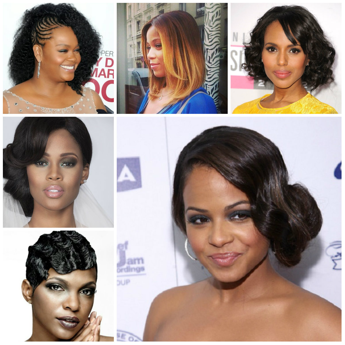 2016 Festive Hairstyles For Afro American Women 2019
