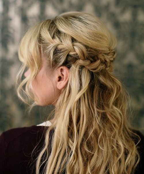 Braided Half Updo Hairstyle 2016