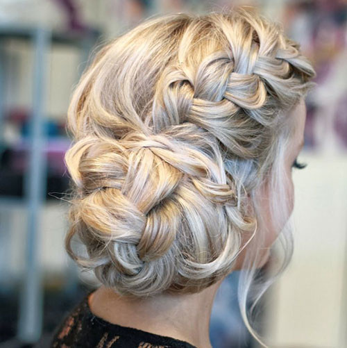braided updo for long hair 2016