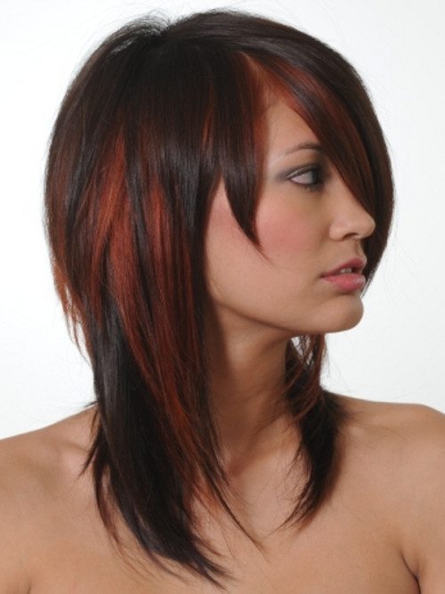 copper red highlights for black hair 2016