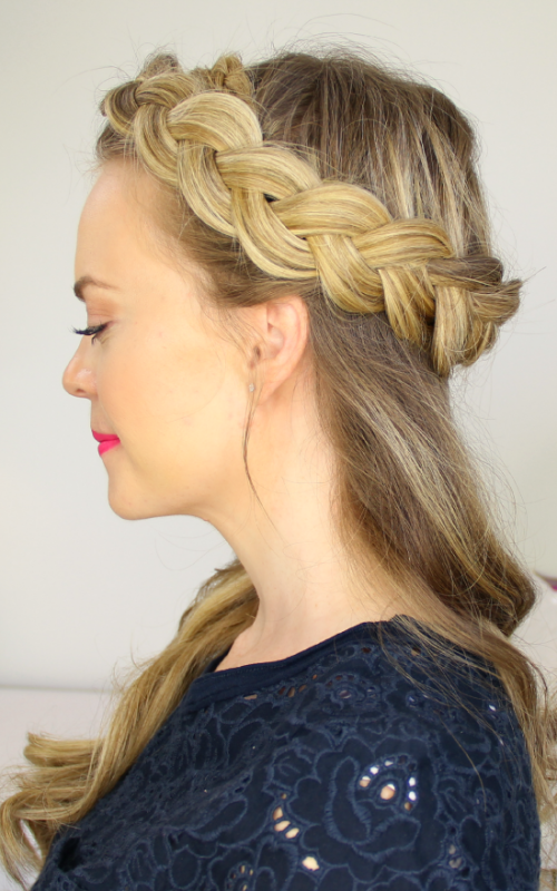 crown braid half updo 2016