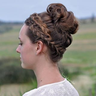 crown braided bun hair 2016