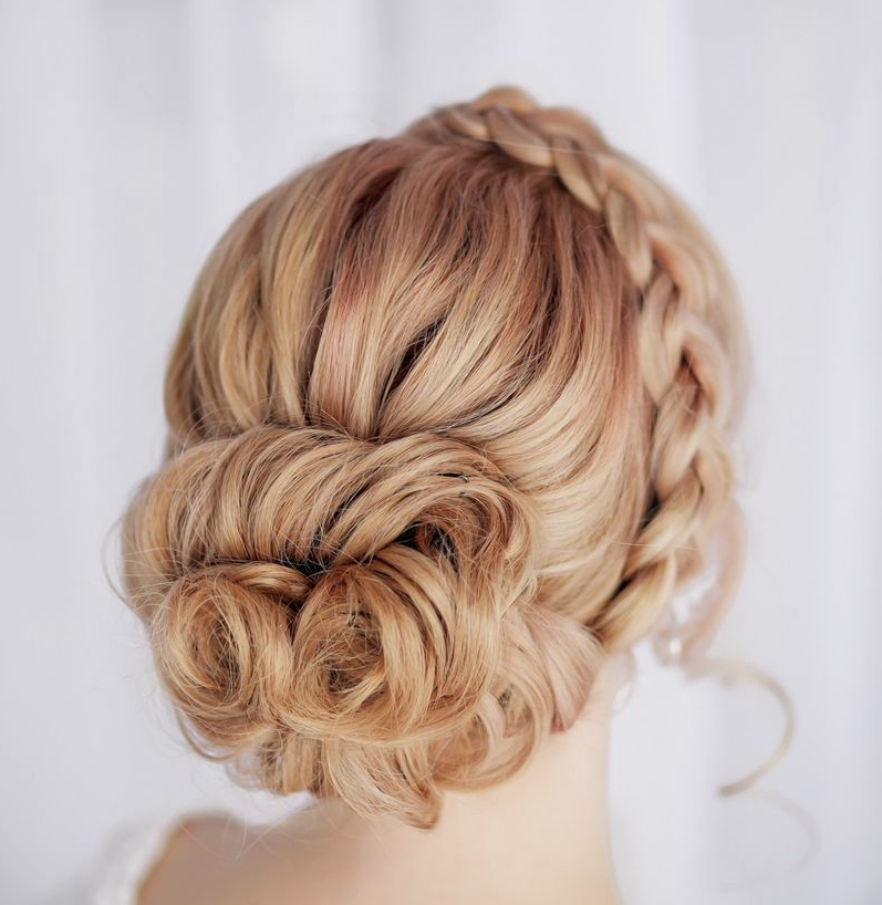 curly braided updo 2016