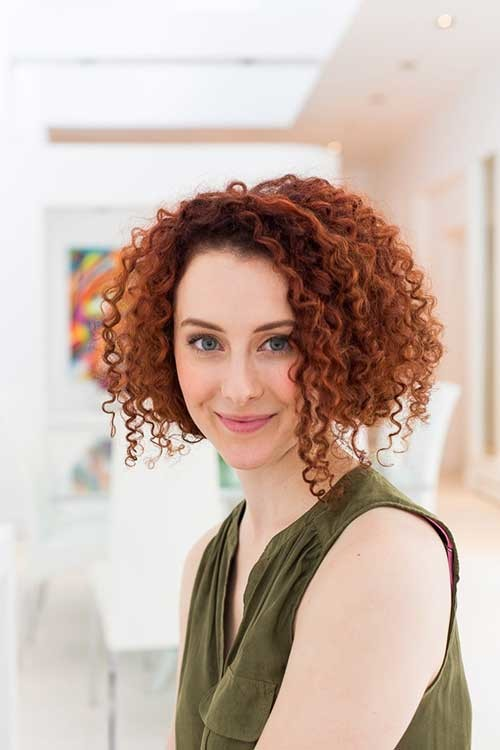 curly faux bob hairstyle 2016