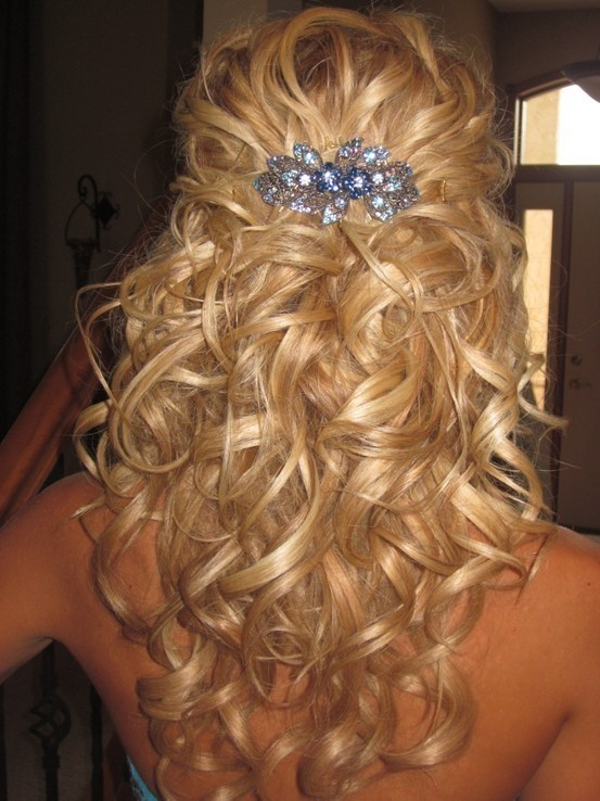 2016 semi updo hairstyle ideas 2017 haircuts hairstyles and curly half updo hairstyle 2016 pmusecretfo Gallery