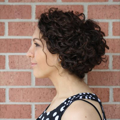 curly headband updo 2016
