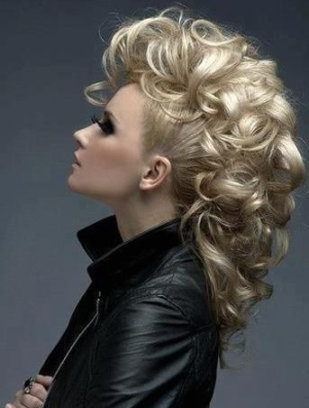 curly mohawk updo hairstyle 2016
