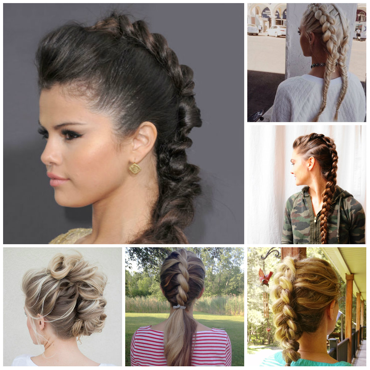 faux hawk braid hairstyles 2016