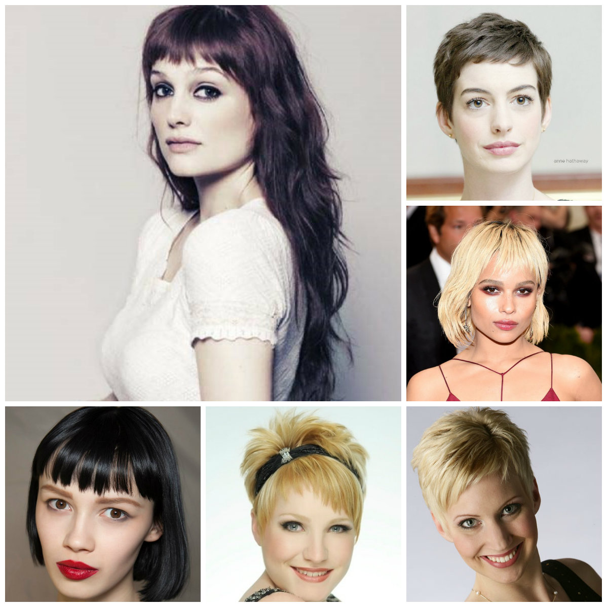 hairstyles with short bangs 2016
