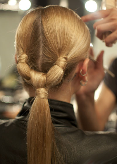 knotted ponytail hairstyle 2016