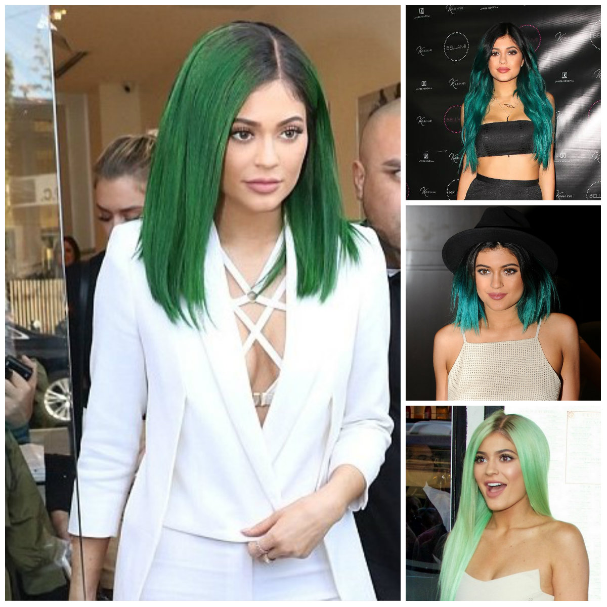 kylie jenner green hair colors 2016 - Copy