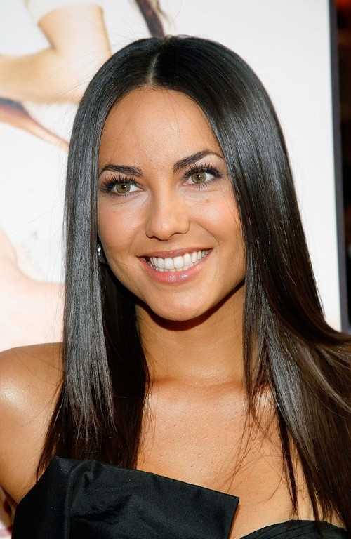 long sleek black hairstyle 2016
